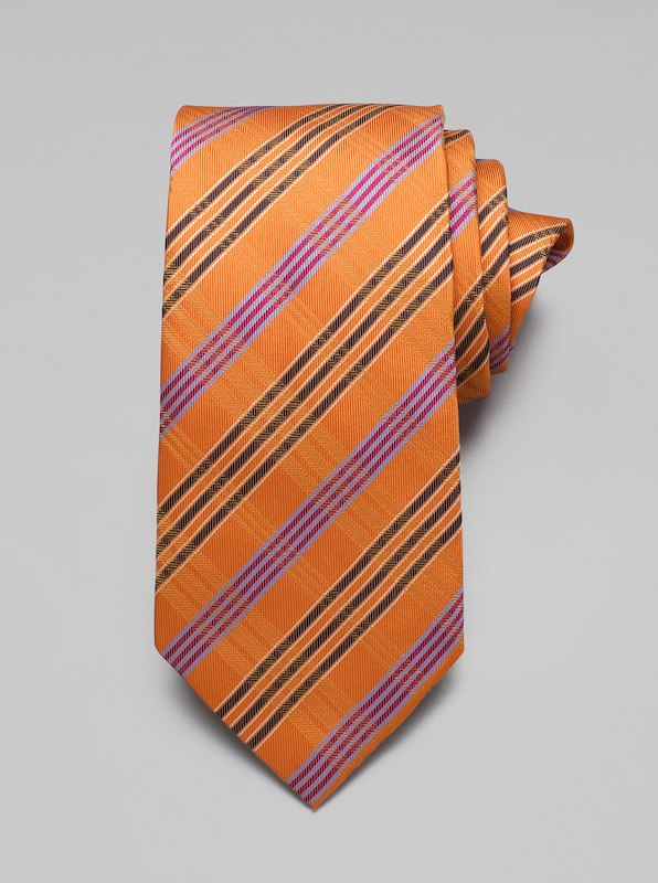 Plaid Tie - Orange