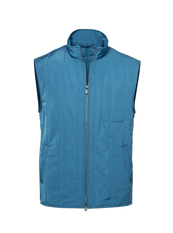 Lapis Blue Tech Quilted Vest