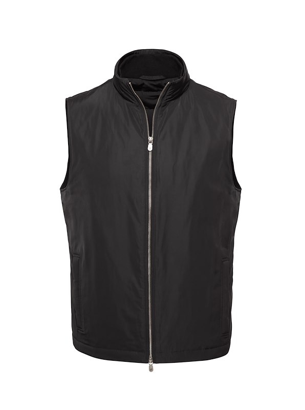 Black Matte Polyester All Season Vest