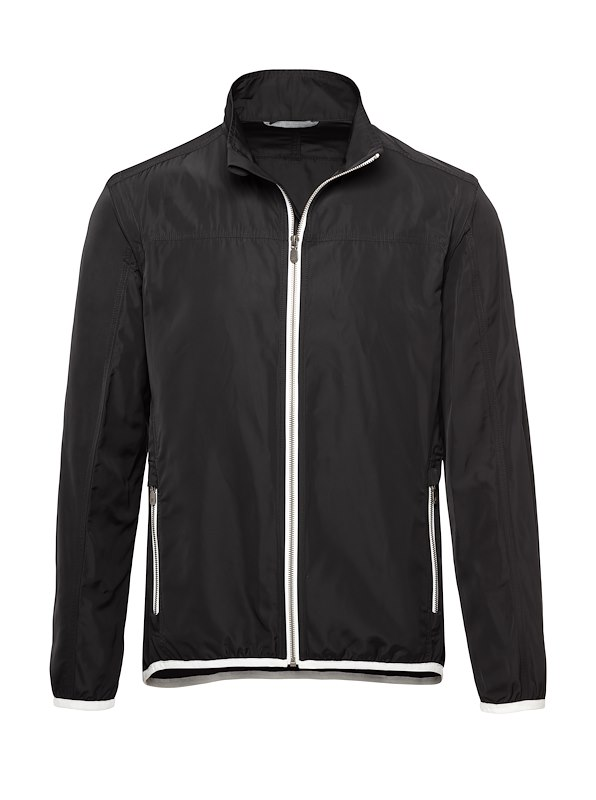 Black Matte Polyester Golf Jacket