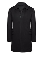 Black Cashmere Reversible Coat