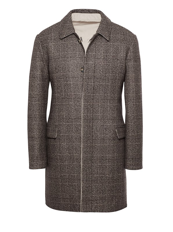 Hickory Glen Plaid Cashmere Reversible Coat