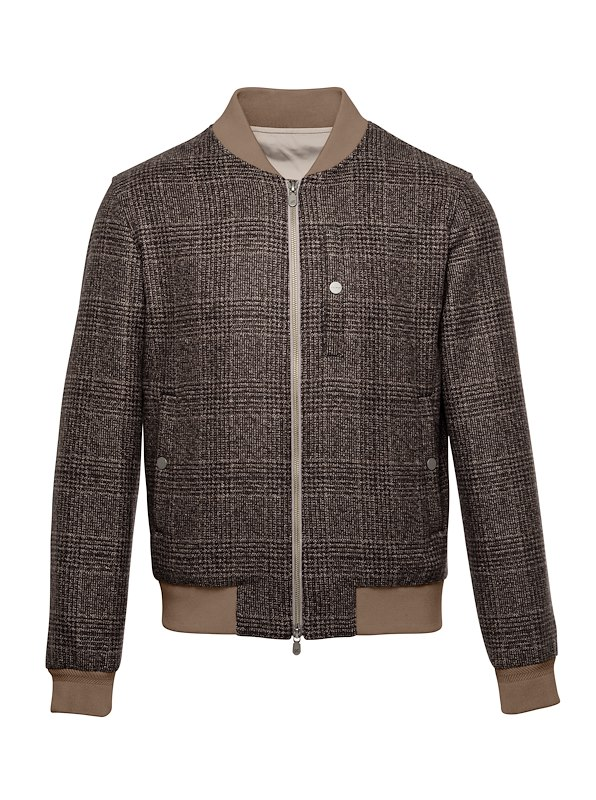 Hickory Glen Plaid Cashmere Flight Jacket