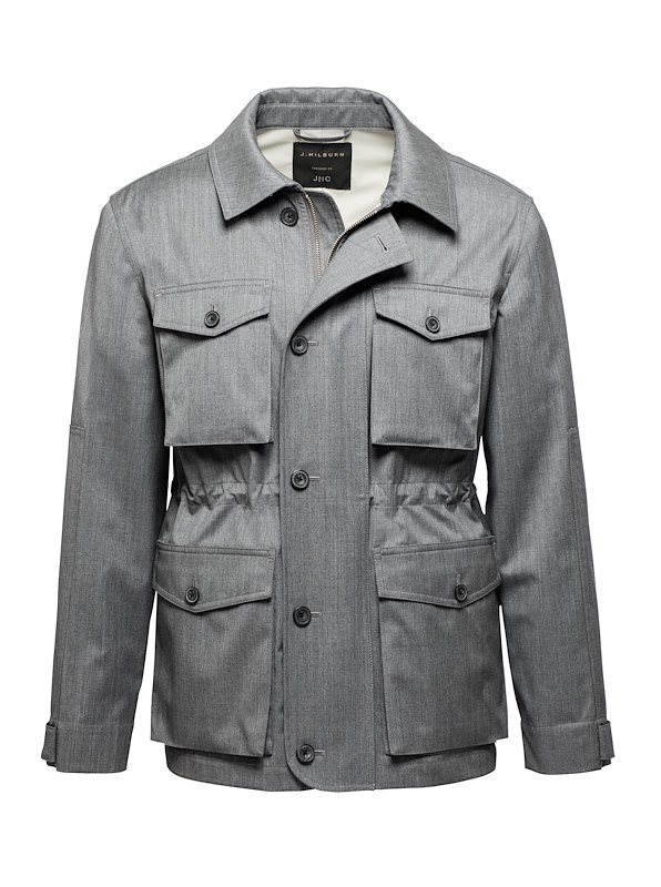 Grey with Light Grey Solid Field Jacket