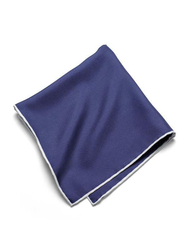 Silk Solid Pocket Square - Navy