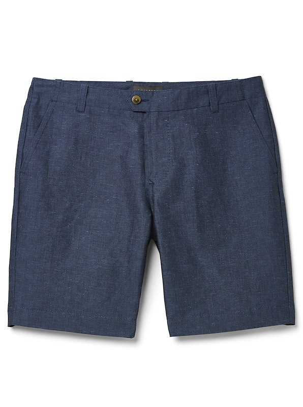 Chambray Short - European Fit - Blue Chambray