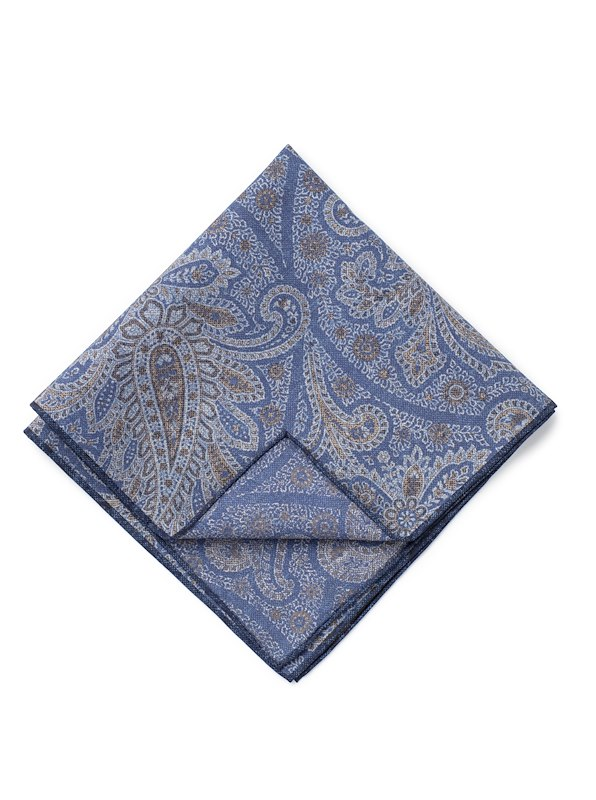 Double Faced Paisley - Blue/Brown