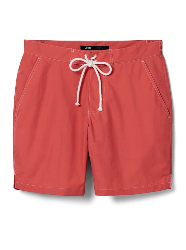 Coral Solid Swim Trunk