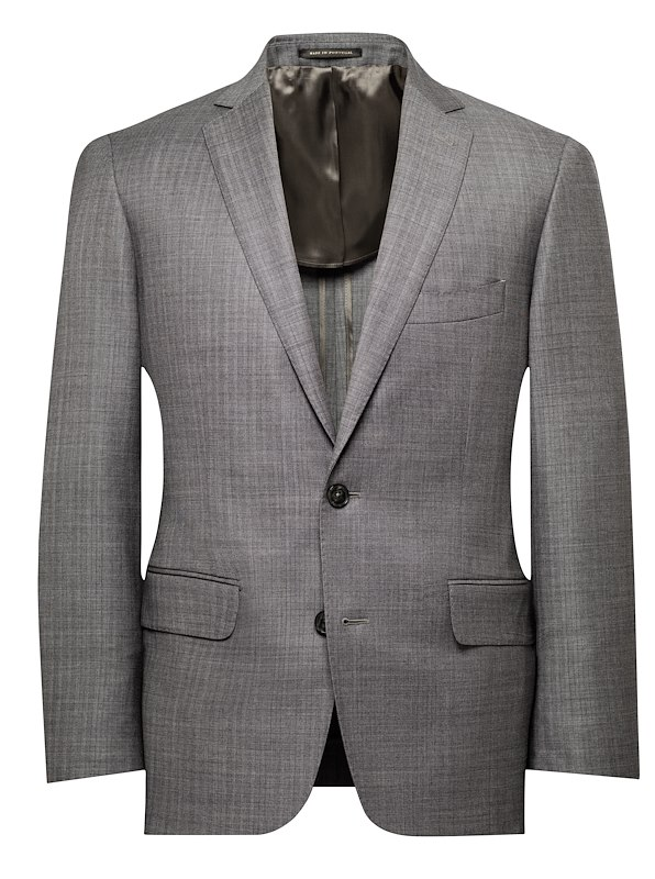 Slate Grey Herringbone Stretch