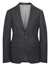 Charcoal Shadow Chalk Stripe