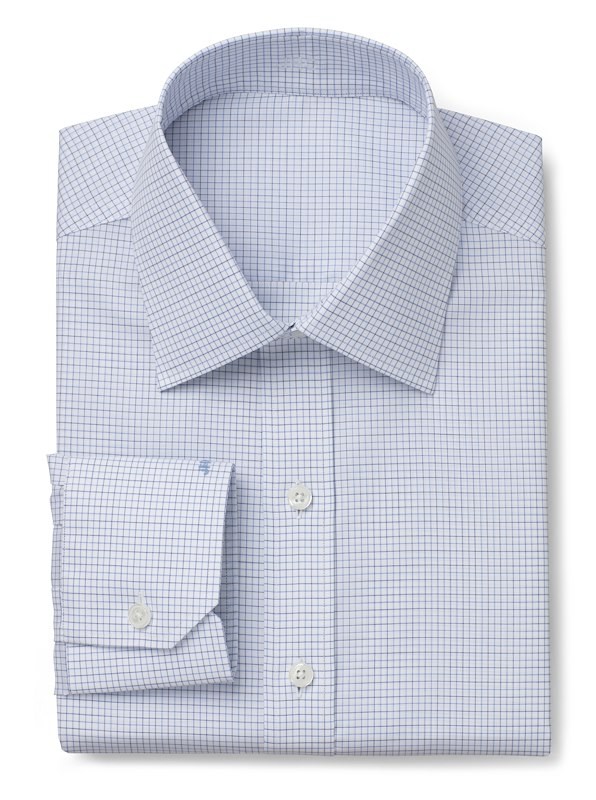 Wrinkle Resistant Blue Check