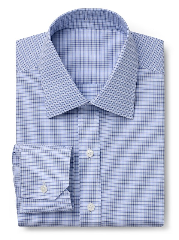 Wrinkle Resistant Blue Multi Check