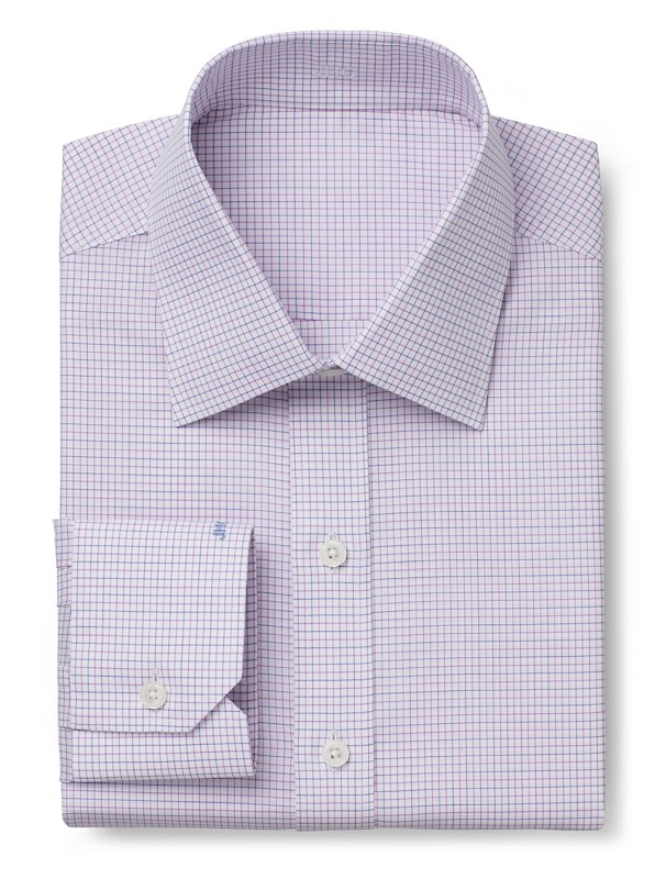 Wrinkle Resistant Blue/Pink Check
