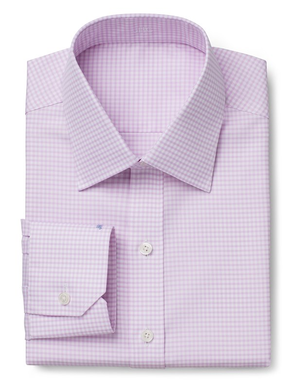 Wrinkle Resistant Pink Twill Gingham