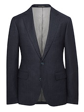 Blue and Grey Chalk Stripe